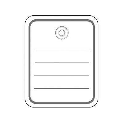 Herma label: Productlabel 40x50 mm met Plasticoogje / draad 1000 St. - Grijs, Wit