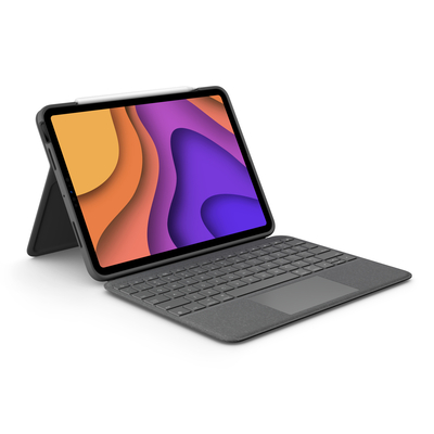 Logitech Folio Touch Mobile device keyboard - Grijs