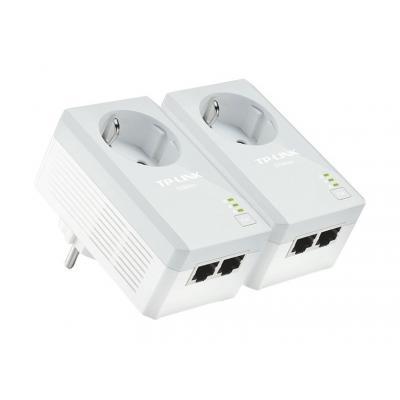 Tp-link powerline adapter: HomePlug AV, 10/100 Mbps Ethernet, OFDM, 128-bit AES, 300 m - Wit