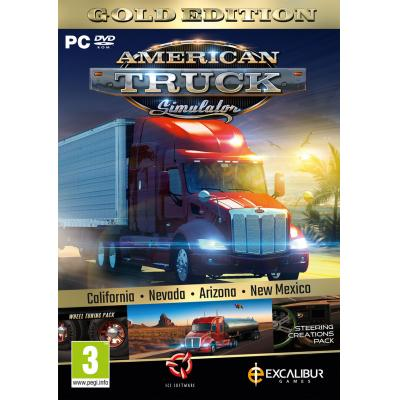 Excalibur game: American Truck Simulator Gold (American Truck Simulator California + New Mexico Add-On + extra DLC)  PC .....