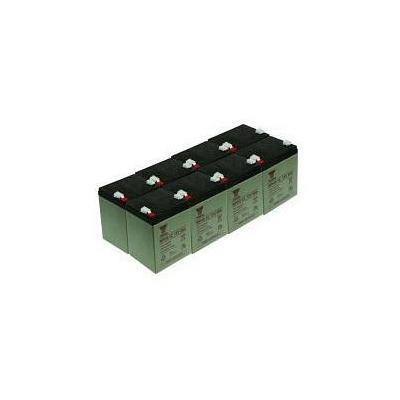 2-power UPS batterij: UPS Battery Kit, Lead Acid, 12 V, 1800 g - Zwart, Grijs
