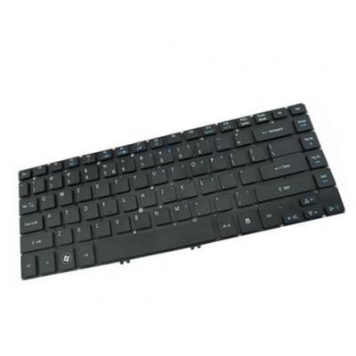 Acer notebook reserve-onderdeel: Replacement keyboard, Black with Purple frame - Zwart, Paars