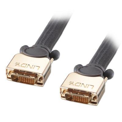 Lindy DVI kabel : 10m, DVI-D - Zwart