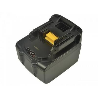 2-power batterij: Power Tool Battery 14.4V 4000mAh Makita MDA340 - Zwart
