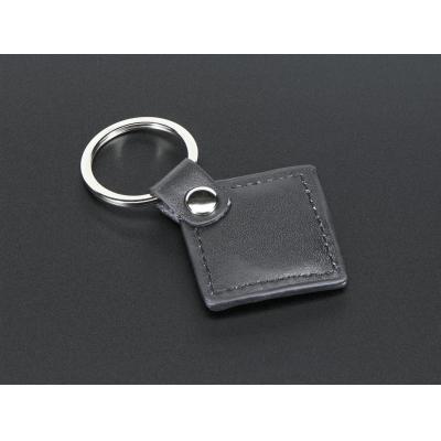 Adafruit : 13.56MHz RFID/NFC Leather Keychain Fob - Zwart