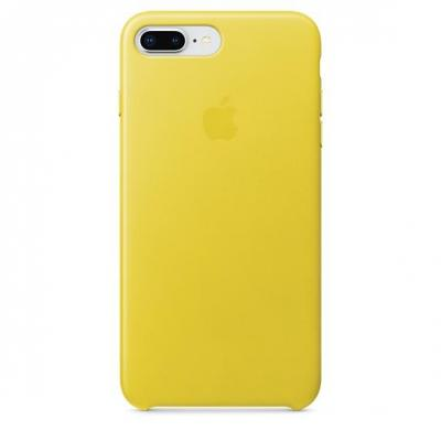 Apple mobile phone case: iPhone 8 Plus / 7 Plus Leather Case - Spring Yellow - Geel