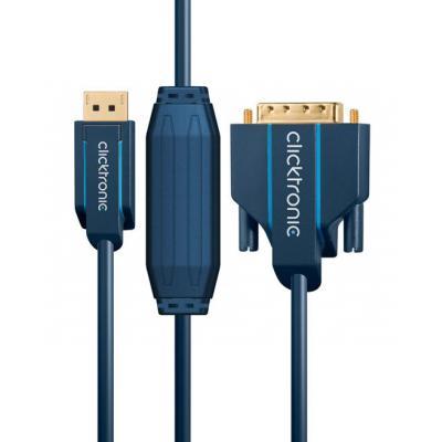 ClickTronic 1 x DisplayPort, 1 x DVI-D, 1.0 m - Blauw