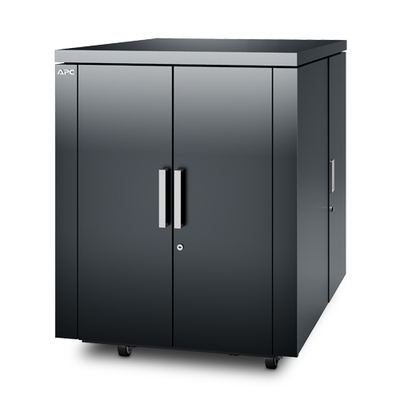 APC NetShelter CX 18U Geluiddempende 'Server Room in a Box', donker grijs Rack