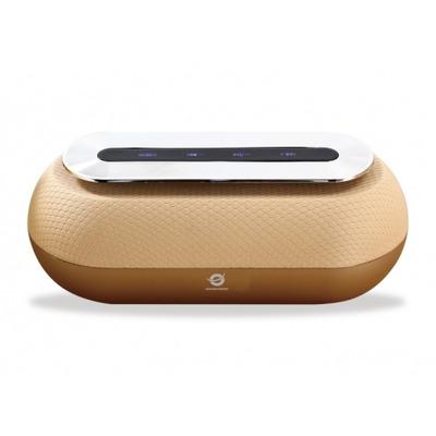 Conceptronic DUNKAN Wireless Bluetooth Speaker, Bluetooth 4.2, DC 5V, 5W * 2, 60-18000 Hz, Gold Draagbare .....