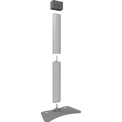 SmartMetals Deelbaar statief voor schermen t/m 50 inch, enkele uitvoering TV standaard - Aluminium, Grijs