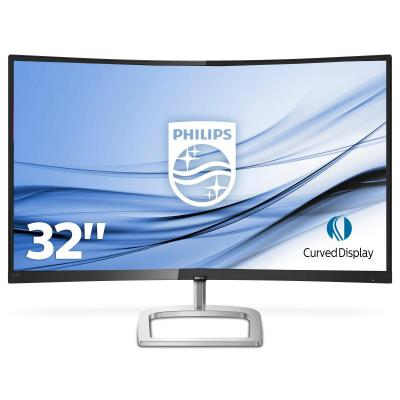 Philips monitor: E Line Gebogen LCD-monitor met Ultra Wide-Color 328E9QJAB/00 - Zwart, Zilver