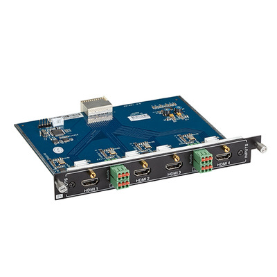 Black Box Modular Video Matrix Switcher Input Card - 4K, 4x HDMI F, 4x 3-pin Audio, 0 - 50°C, 6.75Gbps, HDCP, .....