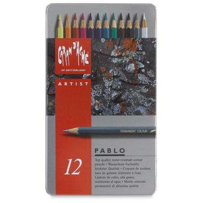 Caran d-ache potlood: Pablo 12 - Grijs, Multi kleuren