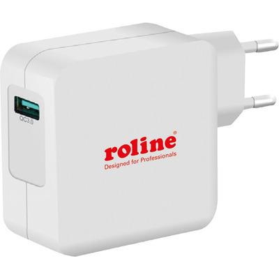 ROLINE USB Wall Charger Euro Plug, 1 port, QC3.0, 24W Oplader - Wit