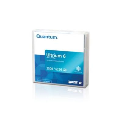 Quantum datatape: Bar Code Labeled, Ultrium 6, 2.5TB Native, 2.5:1 - Zwart, Grijs