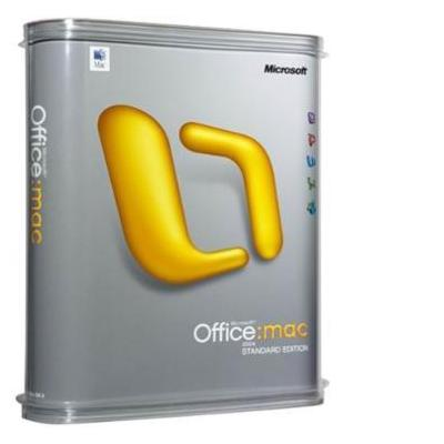 Microsoft software suite: Office Mac 2011 Standard, OLP B, SA, EDU