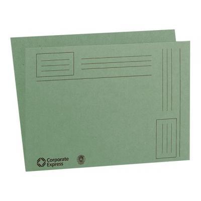 Staples map: Vouwmap SPLS A4 karton groen/ds 100
