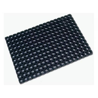 Floortex mat: Deurmat rubber 60x80cm zwart