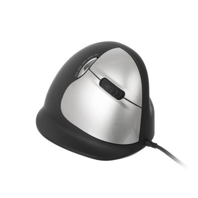 R-Go Tools HE Mouse USB - Large - Rechtshandig Computermuis - Zwart, Zilver