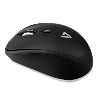 V7 Wireless Mobile Optical Mouse - Black Muis - Zwart
