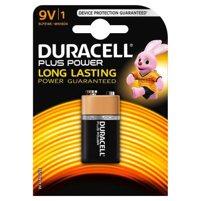 Duracell batterij: 1 x 9V, alkaline