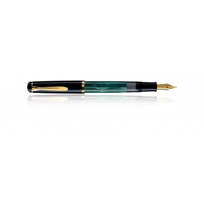Pelikan vulpen: Classic M200 - Zwart, Goud, Groen