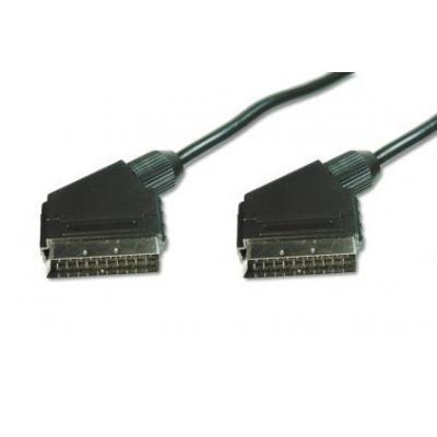 Assmann electronic : Scart 21-pin, 1.5m - Zwart