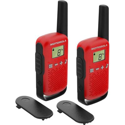 Motorola TALKABOUT T42 walkie-talkie - Zwart, Rood