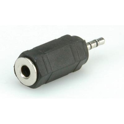 ROLINE Stereo Adapter 2.5 mm Male - 3.5 mm Female Kabel adapter - Zwart