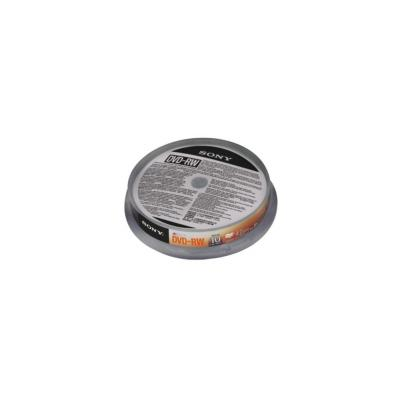 Sony DVD: 10DMW47ASP- DVD-ReWritable, geleverd in een spindle boxverpakking van 10 stuks/ 4,7 GB