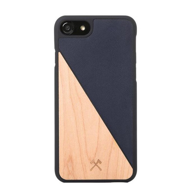 Woodcessories Split Mobile phone case - Blauw, Hout
