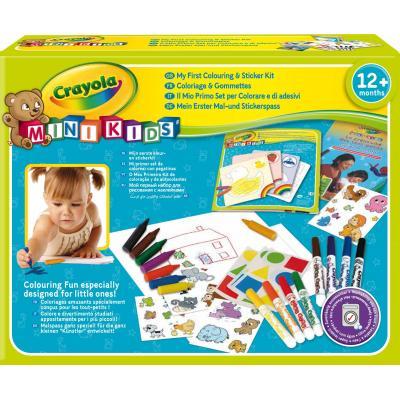 Crayola : Mini Kids - Kleur en sticker set - Multi kleuren