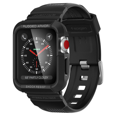 Spigen Watch Series 3/2/1 (42mm), TPU - Zwart