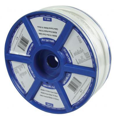 Valueline RG59U 100m Coax kabel - Wit