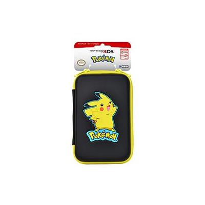 Hori portable game console case: New Pikachu Hard Pouch for the New Nintendo 3DS XL, black/yellow - Zwart, Geel