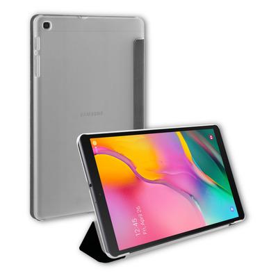 BeHello Samsung Galaxy Tab A 10.1, Folio, Black/Grey Tablet case - Zwart, Grijs