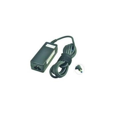 2-power netvoeding: AC Adapter 19.5V 2.31A 45W w/ Power Cable & Converter Dongle 7.4 x 5 mm for HP ProBook 430 - Zwart