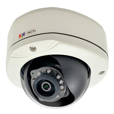 ACTi E77 Beveiligingscamera - Zwart, Wit