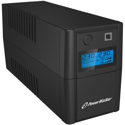 PowerWalker VI 850SE LCD/IEC UPS - Zwart