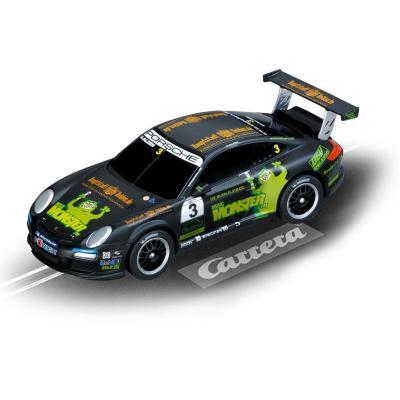 """Carrera toy vehicle: Porsche GT3 Cup """"Monster FM, U.Alzen"""" - Zwart, Groen"""
