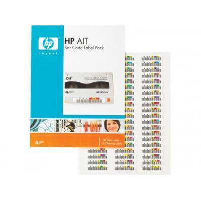 Hewlett packard enterprise barcode label: HP AIT Bar Code Label Pack