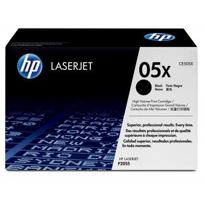 Hp toner: 05X originele high-capacity zwarte LaserJet tonercartridge