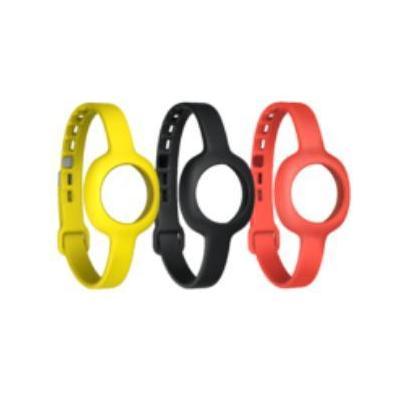 Jawbone horloge-band: Up Move Reg. Wristband - Onyx/Yellow/Ruby, Slim size - Zwart, Rood, Geel