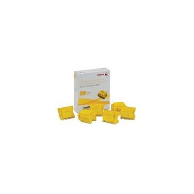 Xerox inkt stick: Colorqube Ink Yellow, Colorqube 8900 (6 Sticks) - Geel