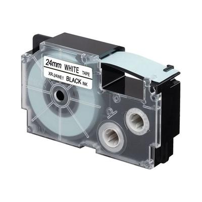 Casio 8 m, 24 mm, zwart op wit Labelprinter tape