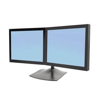 Ergotron DS Series DS100 Dual Monitor Desk Stand, Horizontal Monitorarm - Zwart