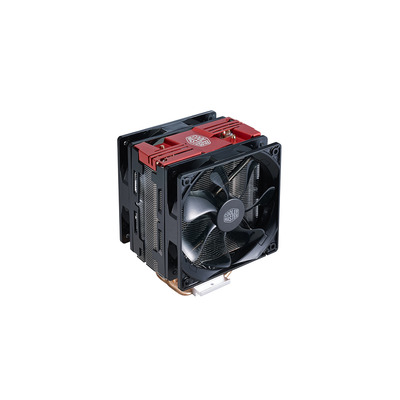 Cooler Master Hyper 212 LED Turbo Hardware koeling - Zwart, Rood