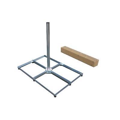 König : Gegalvaniseerde stalen balkonstandaard bigfoot 4x 60 x 40 cm - Zilver