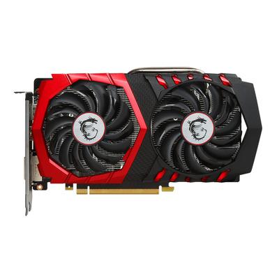 Msi videokaart: GeForce GTX 1050 Ti GAMING 4G - Zwart, Rood