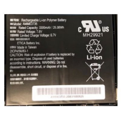 Zebra BTRY-ET5X-10IN3-01 Reserveonderdelen voor tablet